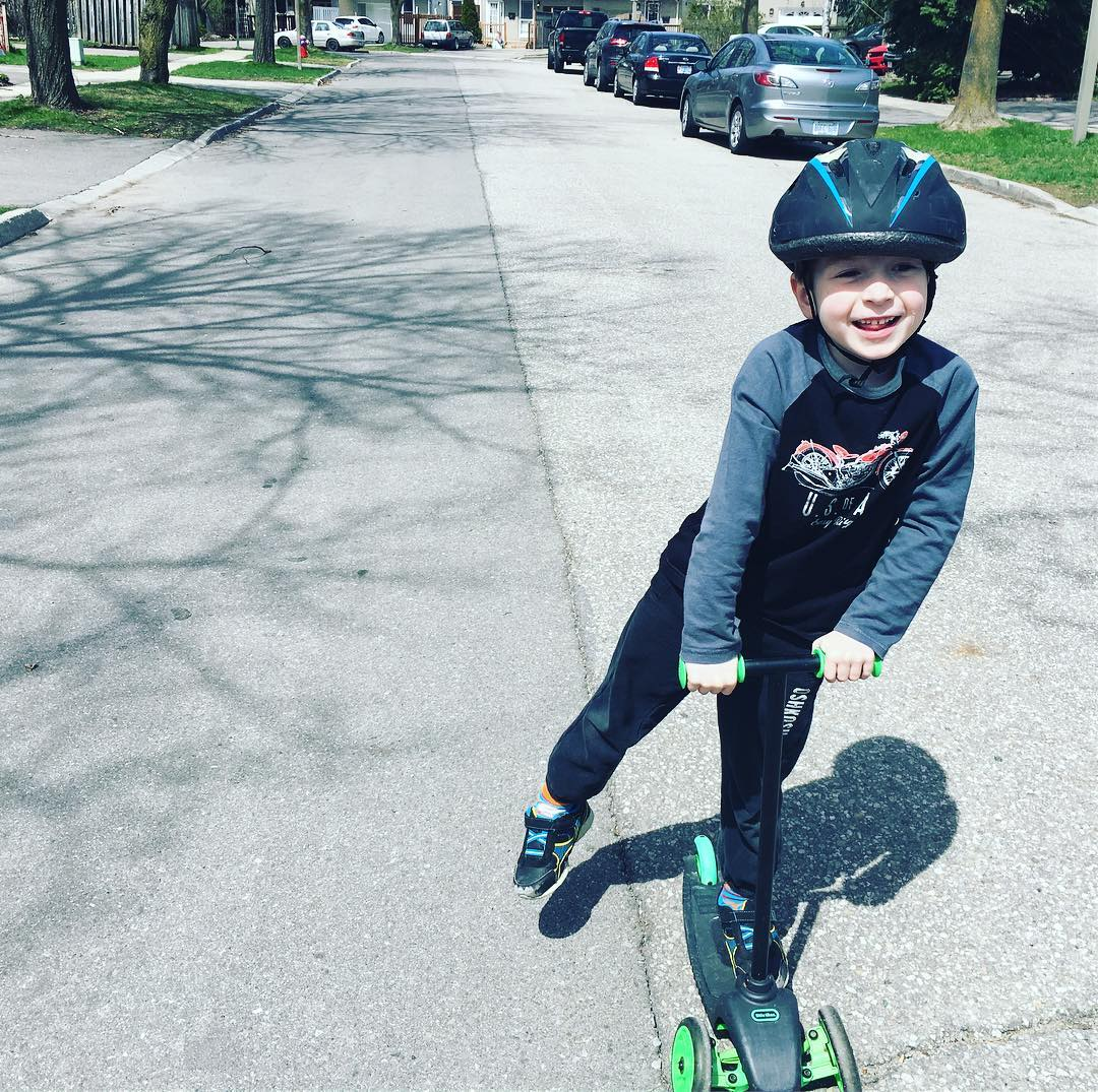 Scooter action! dadlife