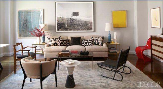 Interior Designer Tamzin Greenhills Manhattan Apartment Featured In ELLE DCOR