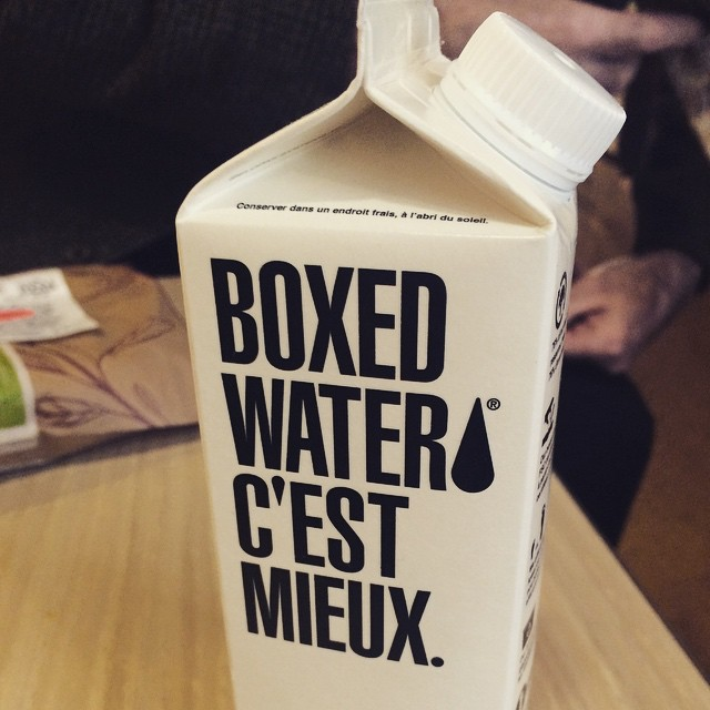 Boxed water, there's a first for everything! #thevillageguru #play2win