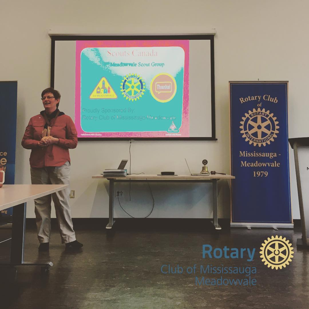 Today the Rotary Club of MississaugaMeadowvale welcomed Rob amp Heatherhellip