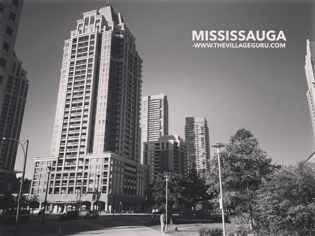 Mississauga City Centre in the Summer time View from outsidehellip