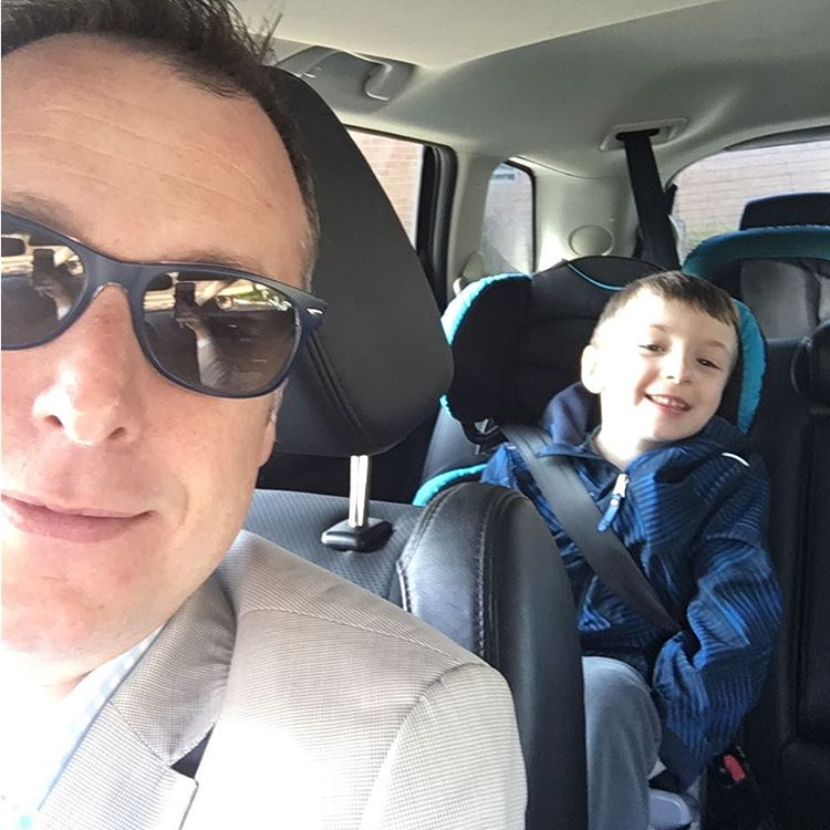 School drop off selfie! dadlife