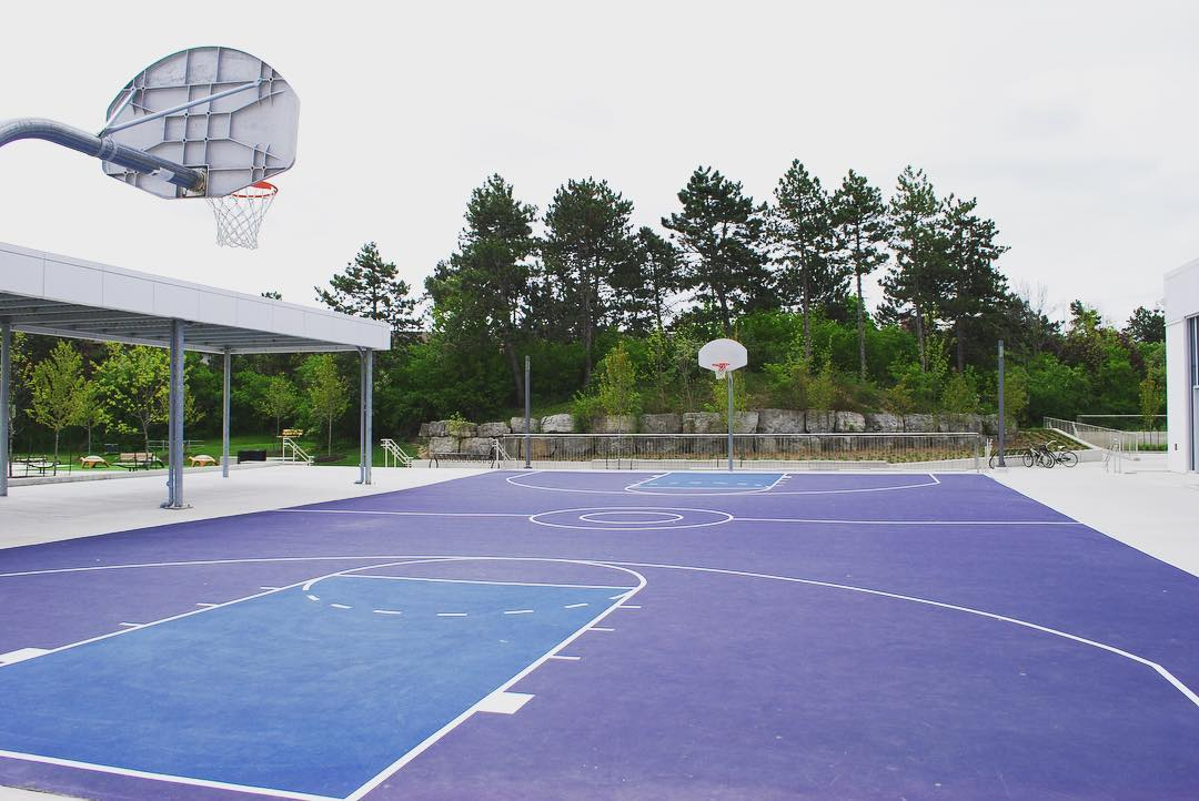 Hitting the outdoor basketball court a Meadowvale Community Centre! mississaugahellip